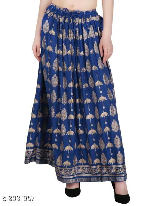 Elegant Rayon Printed Women's Skirts Vol 4