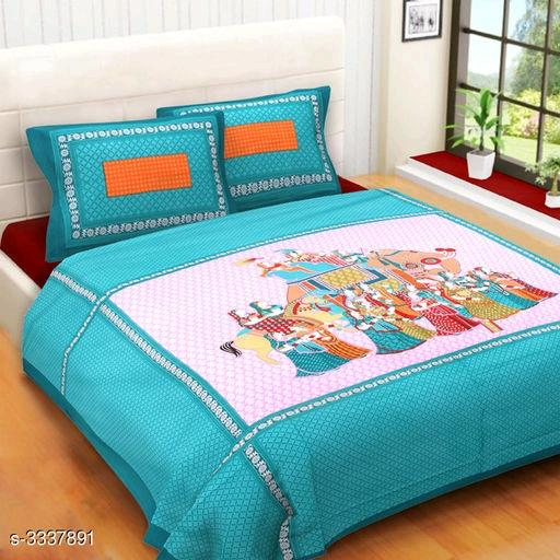 Diva Attractive Cotton Printed Double Bedsheets Vol 3