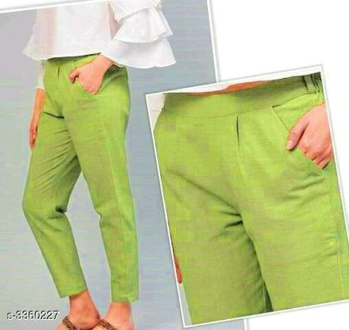 Ladies Casual Cotton Slub Women's Pants Vol 1