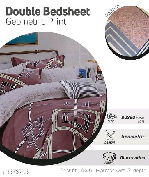Heritage fancy Glace Cotton Double Bedsheets vol 2