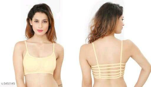 Trendy Women's Cotton Padded Solid Bra Vol 16