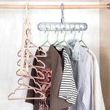 238 9 Hole Plastic Hanger Hanging hook Indoor Wardrobe Clothes Organization Storage Balcony Windowsill Suit Racks