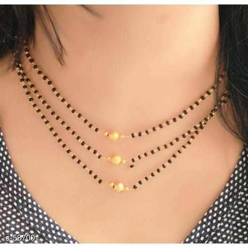 Diva Charming Alloy Beaded Mangalsutras