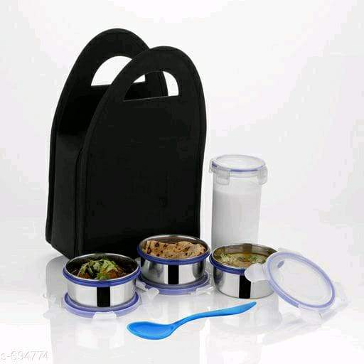 Useful Tiffin Box With 5 Pieces