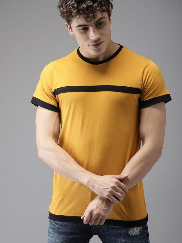 Cotton Solid Regular Fit T-Shirts Vol-1