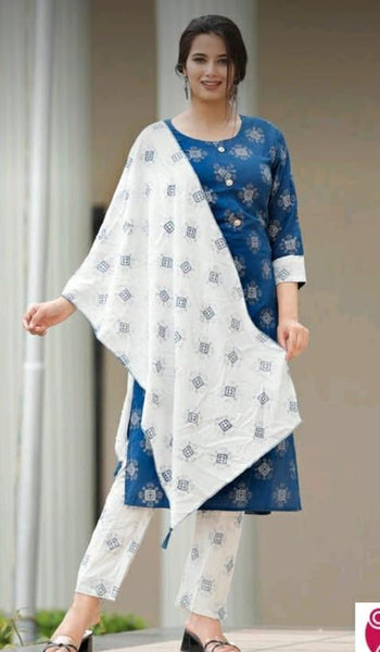 Women's Rayon Kurta with Pant Set