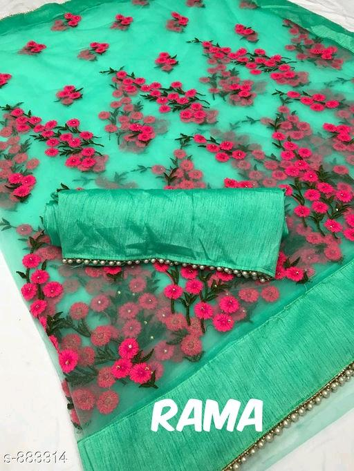 Anvitha Embroidered Partywear Net Sarees Vol 1