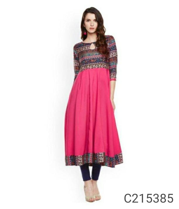 Women's Desi Anarkali cotton Kurtis