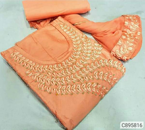 Pretty Cotton Embroidered Dress Materials