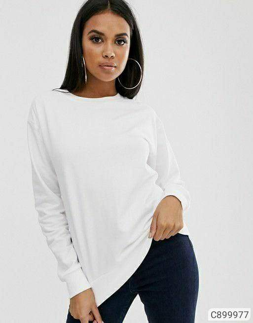 Women's Fleece Solid Sweatshirts