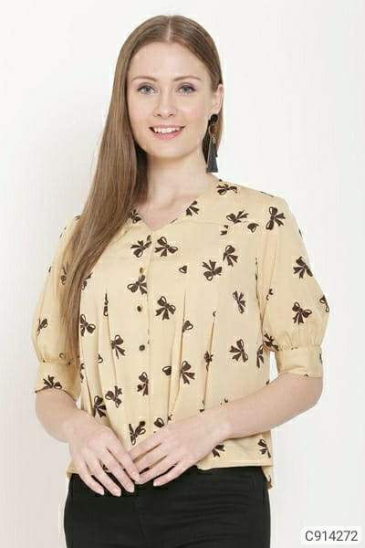 Women's Crepe Printed Tops
