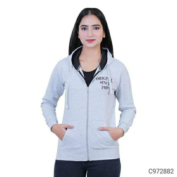 Women's Fleece Printed Hooded Sweatshirts
