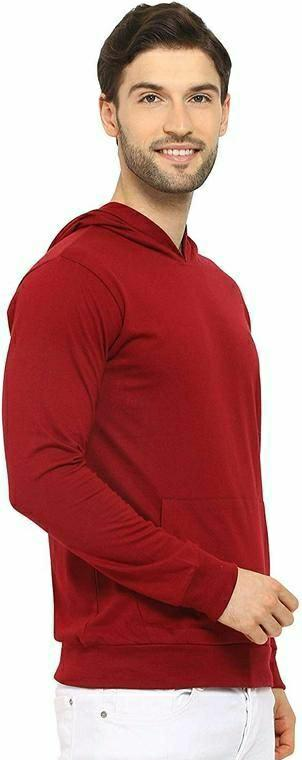 Cotton Solid Men Hoodies