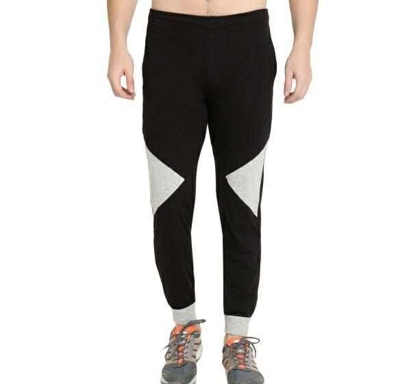 Cotton Blend Color Block Regular Fit Track Pant