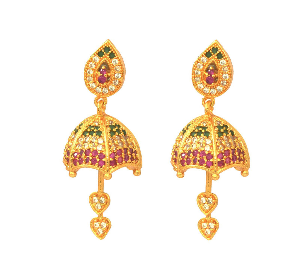 Multicolor AD stone earring