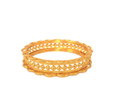 Uniquely designed gold plated bangle