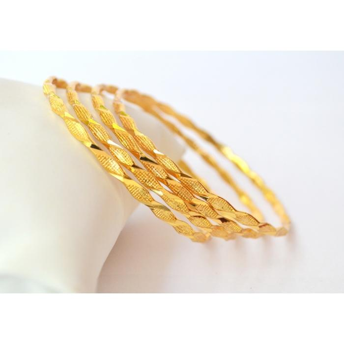 Set of 4 gold plated bangles