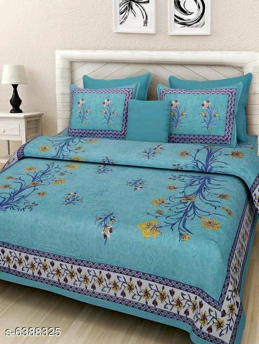 Trendy Cotton 108 x 90 Double Queen Bed Sheet