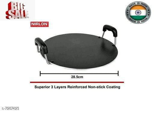 NIRLON Non Stick Cookware Saral Tawa 28cm*1.8cm (3 Layered non stick Coated)