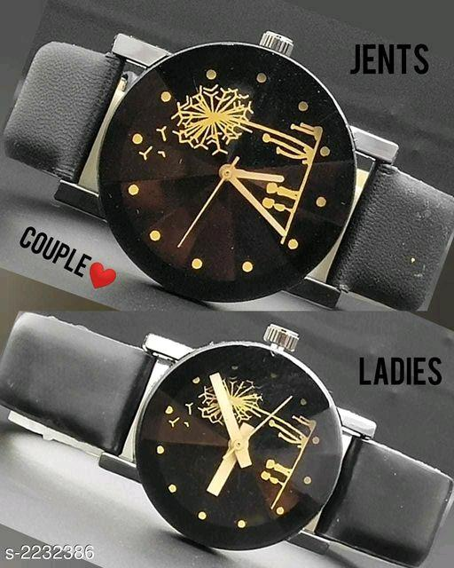 Elite Trendy Genuine Leather  Analog Couple Watches Vol 1
