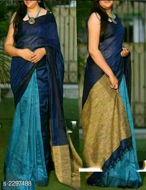 Abirami Stylish Linen Women's Sarees Vol 4