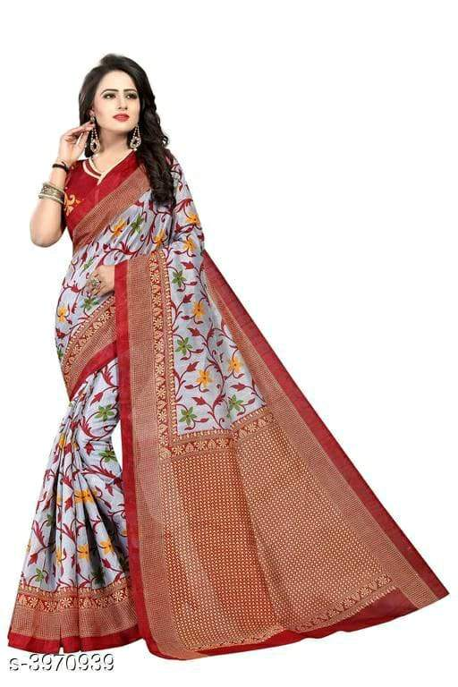 Randal Fashion Women's Flower Printed Bhagalpuri Saree Saree