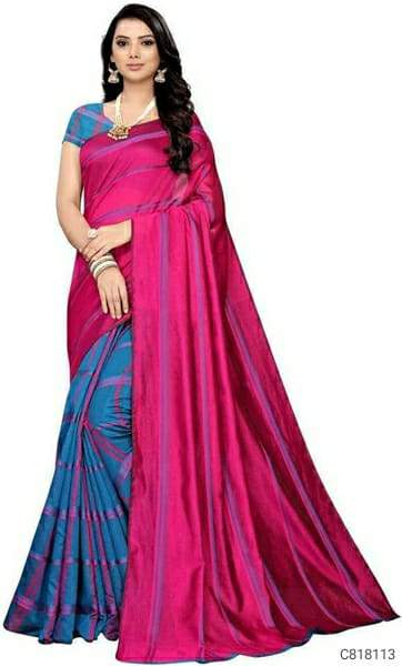 Elegant Cotton Checkered Regular Sarees