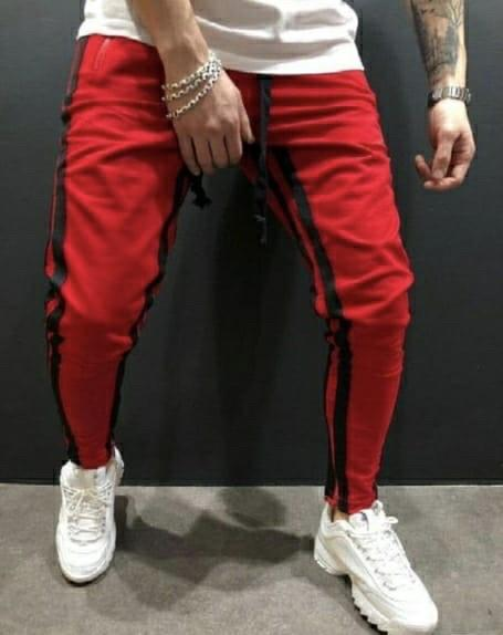 Poly Cotton Color Striped Track Pant