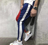 Poly Cotton Color Block Track Pant