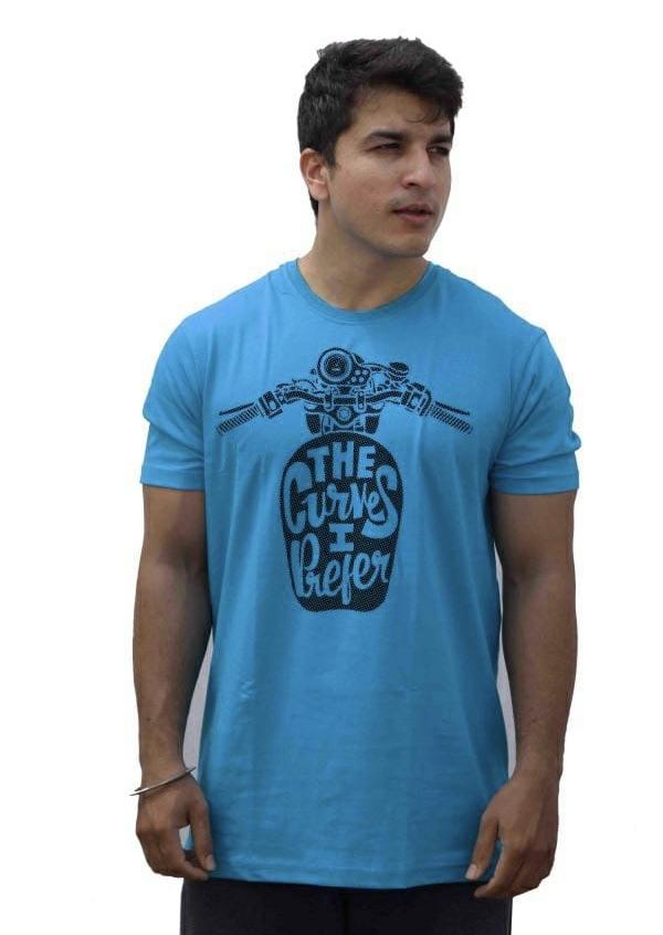 Mens Cotton Printed Half Sleeves T-Shirts