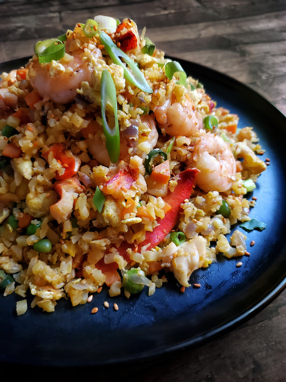 Lobster & Shrimp Cauliflower Rice