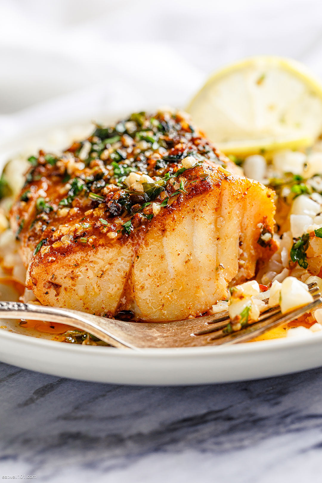 Mediterranean Baked Cod with Lemon and Garlic