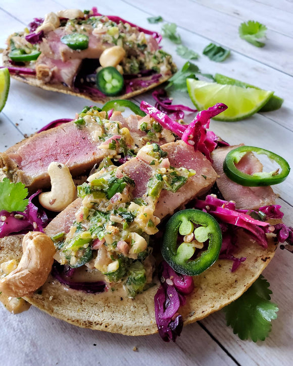 PAN SEARED TUNA STEAK TACO'S