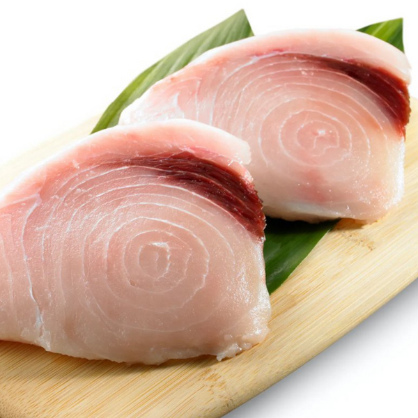 FRESH DOMESTIC SWORDFISH STEAKS, 2 EA - 8 OZ PORTIONS / 1 LB
