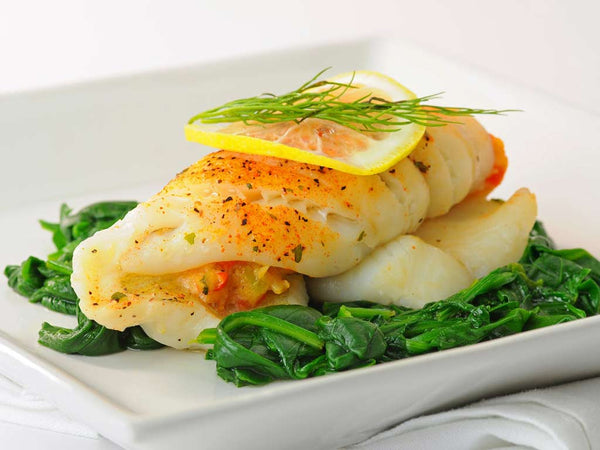 STUFFED SOLE W/ CRABMEAT, 2 X 8 OZ PORTIONS / 1 LB