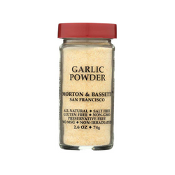 MORTON & BASSET ORGANIC GARLIC POWDER, 2.6 OZ