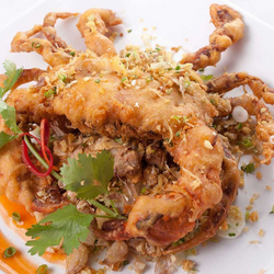 FRESH MARYLAND, PAN SAUTEED SOFT SHELL CRAB (IN SEASON), 1/2 DOZEN (Cooked)
