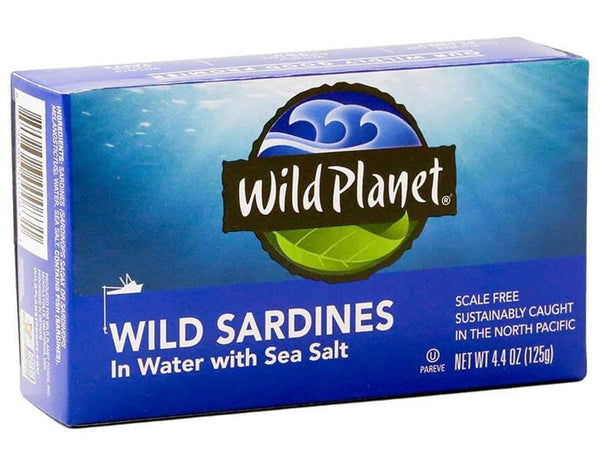 WILD PLANET SARDINES PACK IN WATER, 4.4 OZ