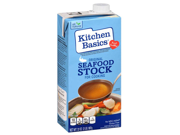 SEAFOOD STOCK BY KITCHEN BASICS, 32 OZ
