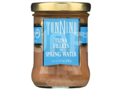 TONNINO TUNA, PACKED IN SPRING WATER, GLASS JAR, 6.7 OZ