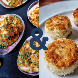 Baked Clam/Mini Crab Cake Combo(6pc Mini Crab Cakes & 6 Baked Clams)