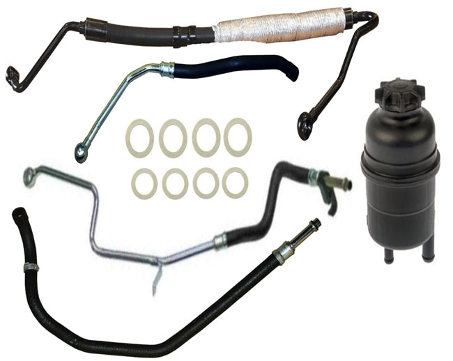 BMW E39 540i Power Steering Hose Kit W/ Reservoir Value Line - OEMBimmerParts