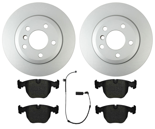 BMW E46 3-Series Brake Kit By Pagid-Centric W/ Akebono Ceramic Pads & Sensor - OEMBimmerParts