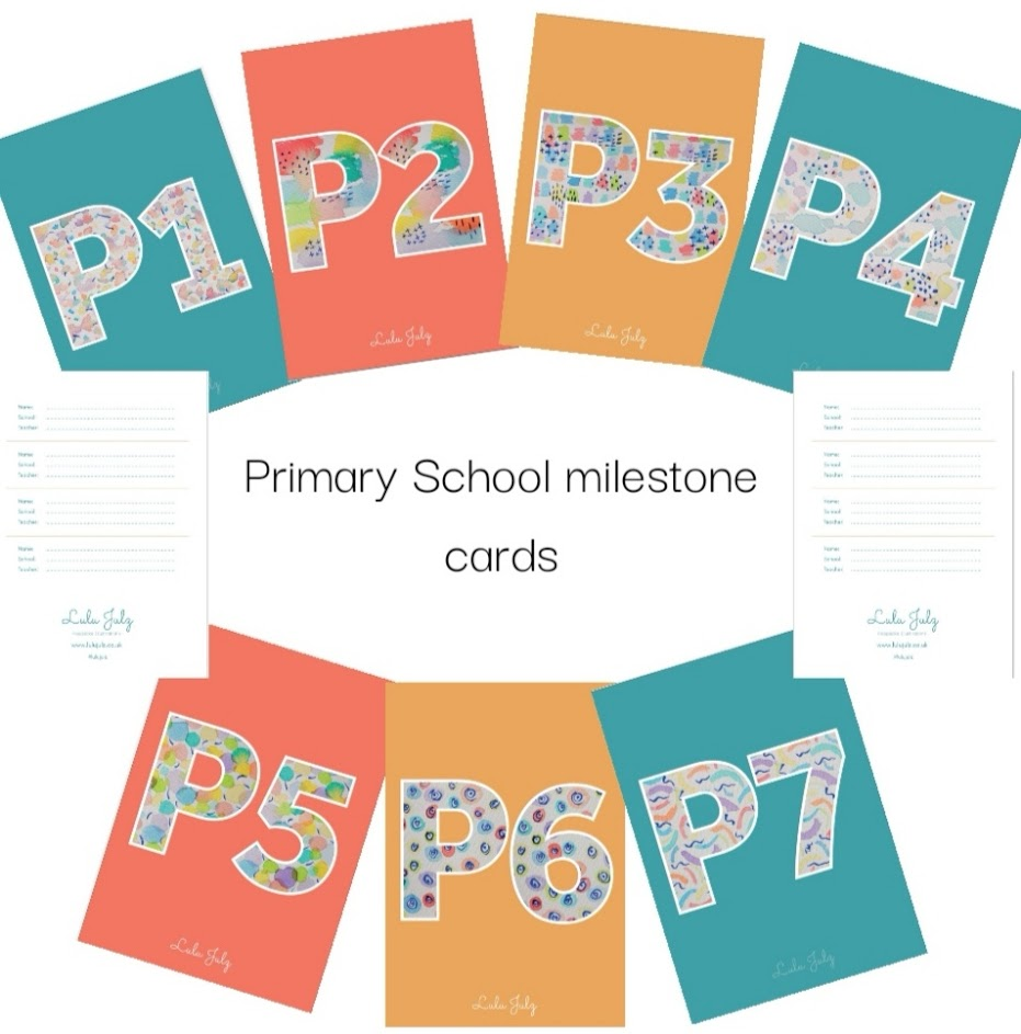 Primary School Milestone Cards