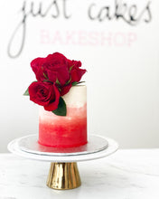 Load image into Gallery viewer, Ombre Buttercream & Florals Cake