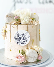 Load image into Gallery viewer, Classic Gold Drip & Fixings Cake