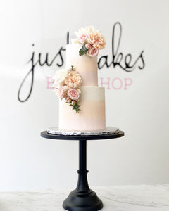 Ombre Buttercream & Florals Cake