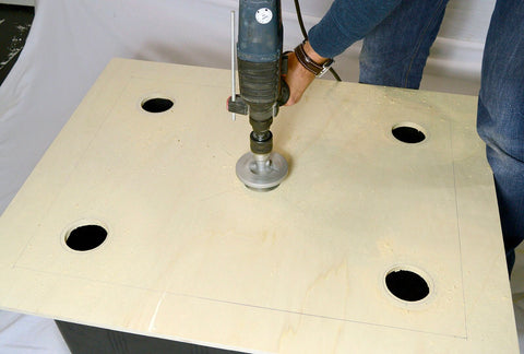 DYI bubble bucket drilling holes