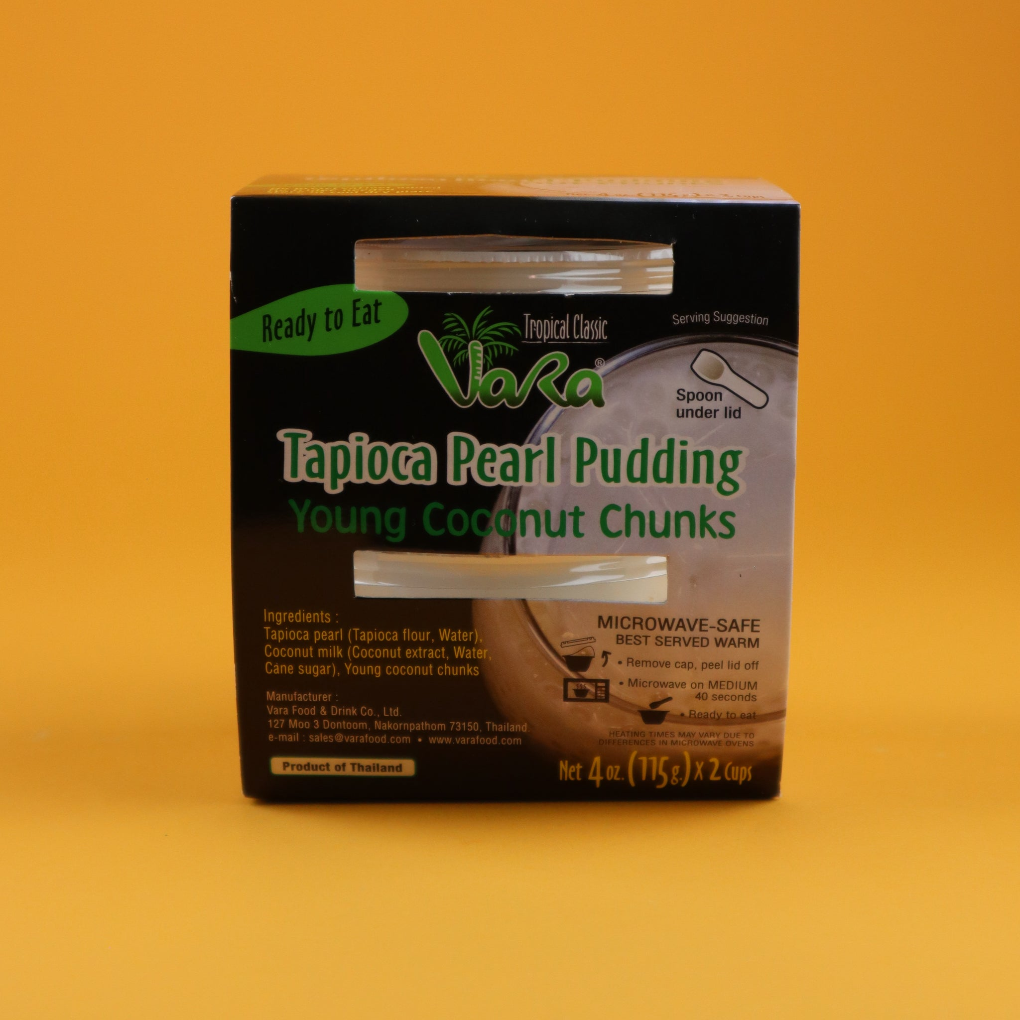 VARA TAPIOCA PEARL PUDDING WITH YOUNG COCONUT CHUNKS