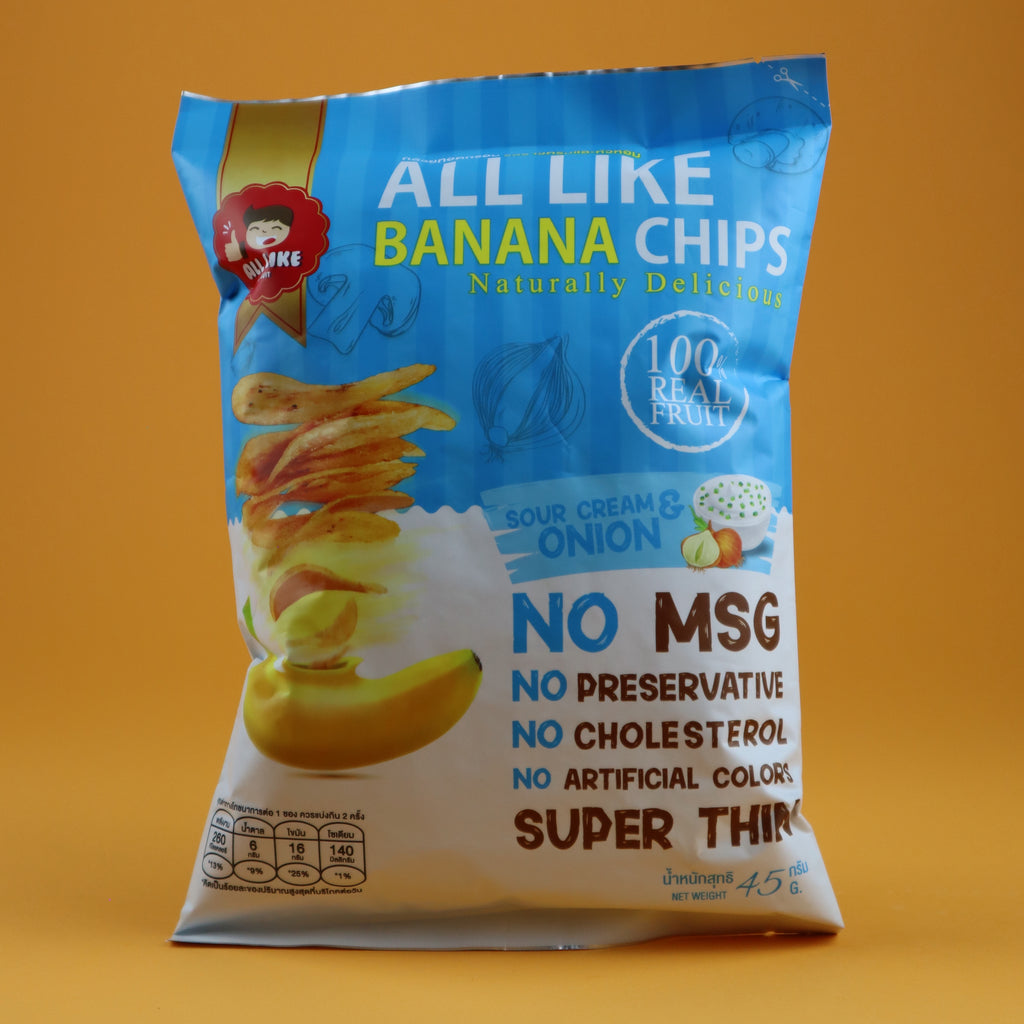 ALL LIKE BANANA CHIPS SOUR CREAM & ONION FLAVOR